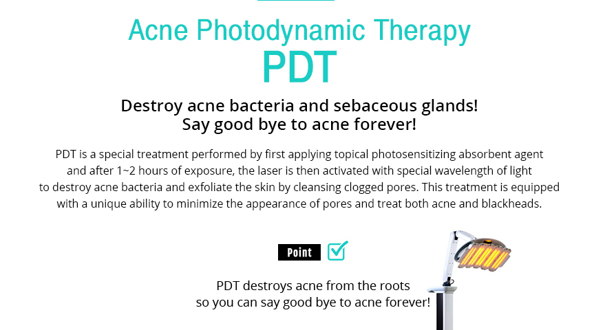 Acne Photodynamic Therapy PDT 				/Destroy acne bacteria and sebaceous glands! Say good bye to acne forever! Acne Photodynamic Therapy PDT